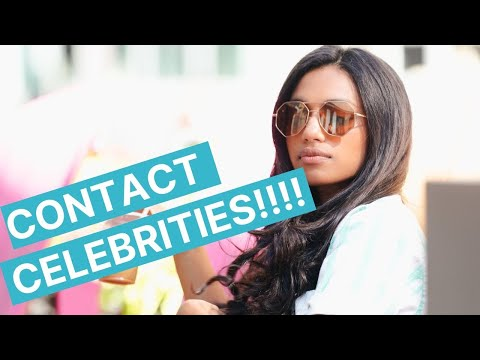 HOW TO CONTACT CELEBRITIES FOR PRODUCT ENDORSEMENTS!