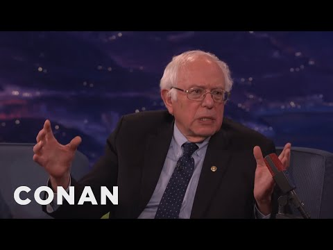 Senator Bernie Sanders Is Still Sick Of Hearing About Hillary's Emails - CONAN on TBS