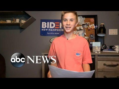 13-year-old boy overcoming stutter speaks at DNC 2020