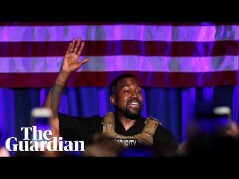 Kanye West makes chaotic presidential rally debut in South Carolina
