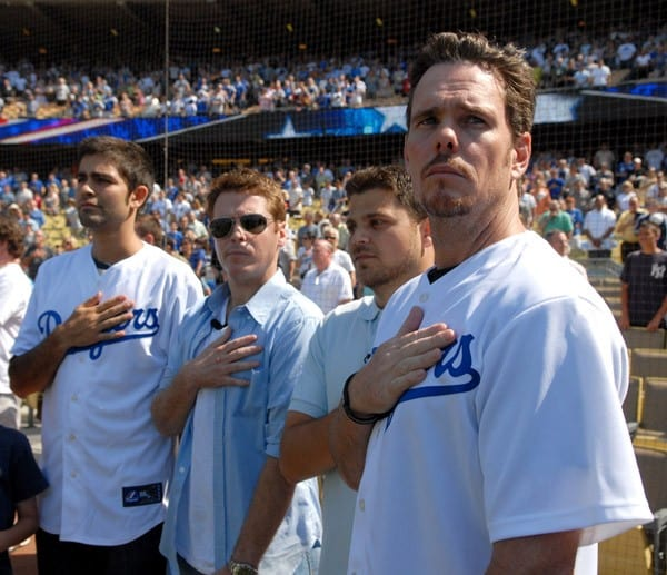 The Cast of 'Entourage' at Dodger Stadium in Los Angeles