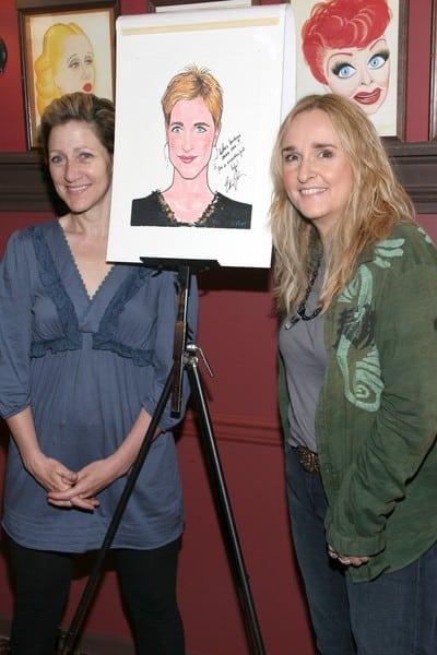 Edie Falco & Melissa Etheridge at Sardi's in New York City