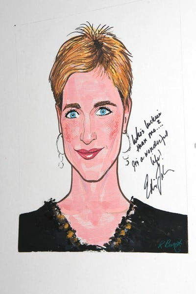 Edie Falco's Caricature at Sardi's in New York City