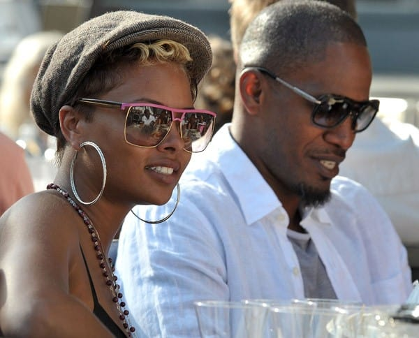 Eva Pigford & Jamie Foxx at the Playboy Jazz Festival
