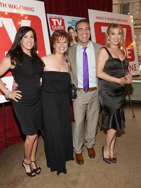 Jacqueline Laurita, Caroline Manzo, Andy Cohen, Ramona Singer