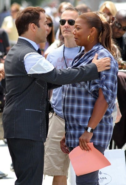 Jeremy Piven & Queen Latifah on the Set of 'Entourage'