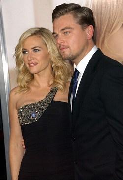 Kate Winslet with Leonardo DiCaprio