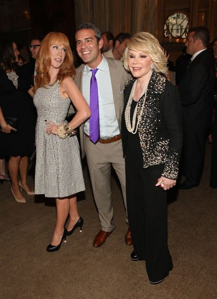 Kathy Griffin, Andy Cohen, Joan Rivers at TV Guide Magazine Party