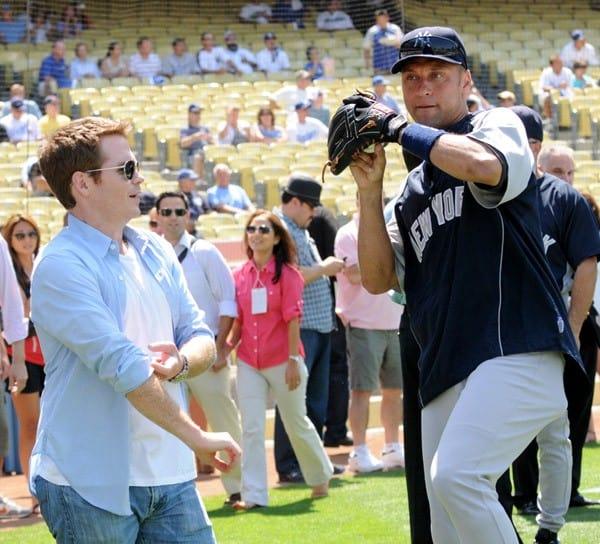 Kevin Connolly & Derek Jeter at Dodger Stadium