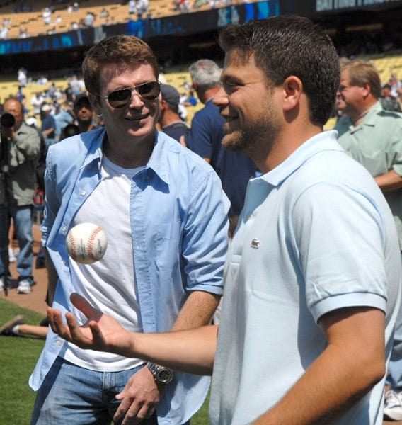 Kevin Connolly & Jerry Ferrara at Dodger Stadium