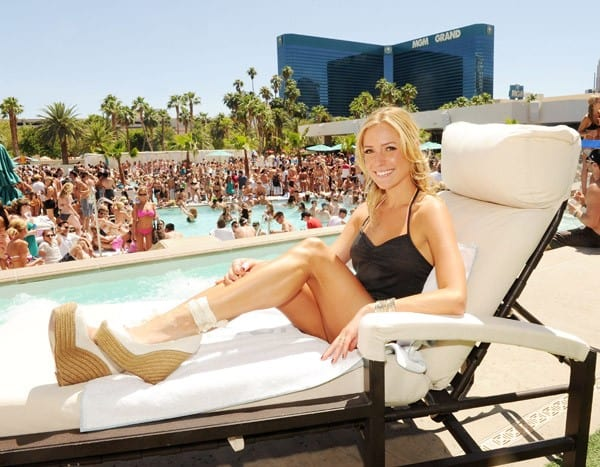Kristin Cavallari at the Wet Republic Pool in Las Vegas