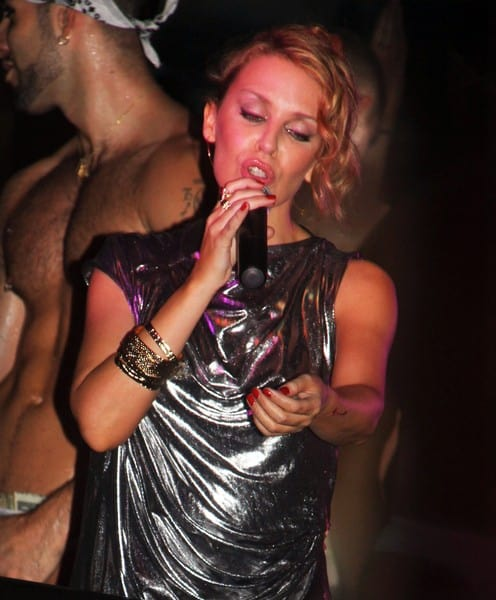 Kylie Minogue Performs at Splash Bar in New York City