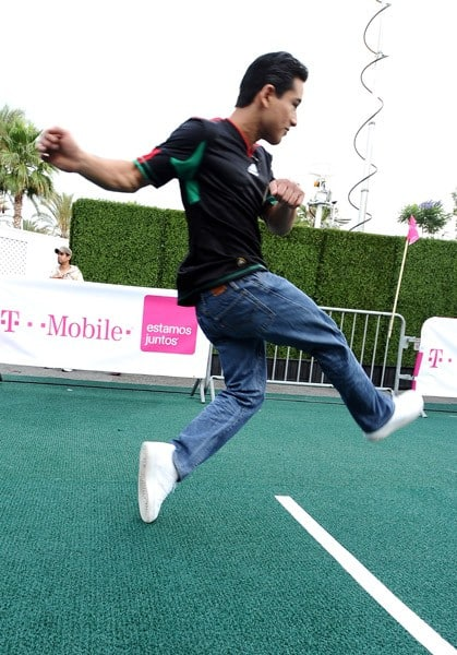 Mario Lopez at the T-Mobile World Cup Viewing Party