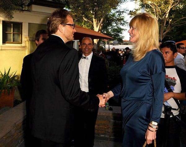 Global Green USA President & CEO Matt Peterseon with Cheryl Tiegs
