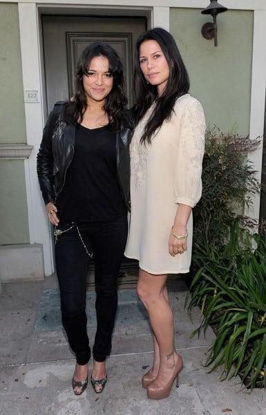 Michelle Rodriguez & Rhona Mitra at Global Green USA's Millenium Awards