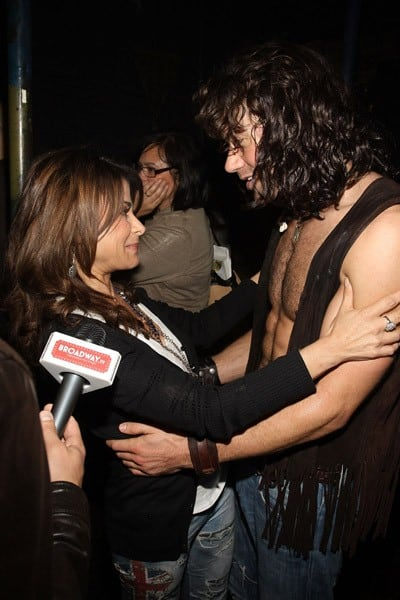 Paula Abdul & Ace Young at Hair's 500th Performance on Broadway