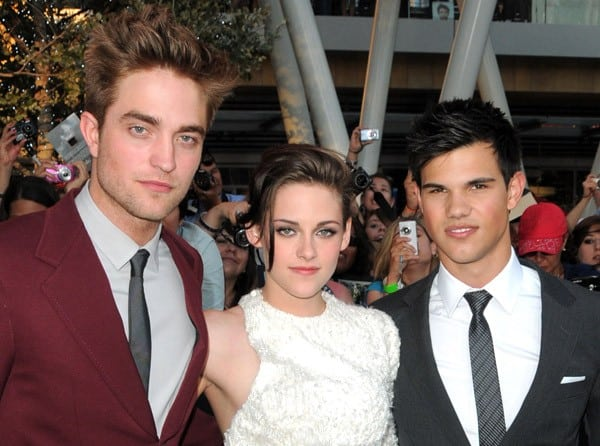 Robert Pattinson, Kristen Stewart & Taylor Lautner at the 'Twilight: Eclipse' Premiere