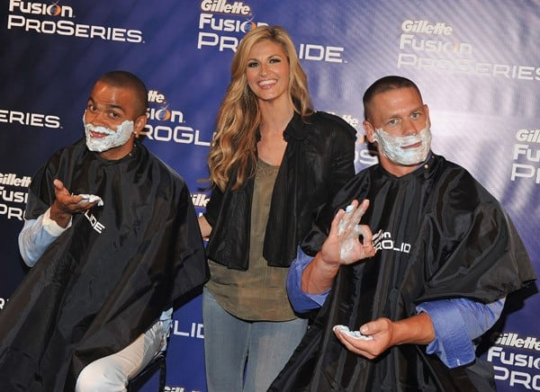 Tony Parker, Erin Andrews & John Cena at Gillette ProGlide Fusion Contest