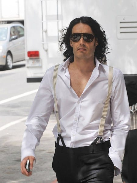 Russell Brand on location for 'Arthur' on the streets of Manhattan