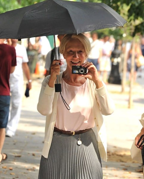 Helen Mirren on location for 'Arthur' on the streets of Manhattan