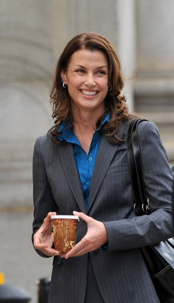 Bridget Moynahan on location for 'Blue Bloods on the streets of Manhattan on July 28, 2010 in New York City.