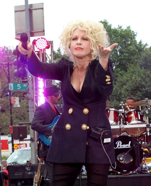 "Cyndi Lauper performs on CBS' ""The Early Show"" at CBS Early Show Studio Plaza on July 20, 2010 in New York City."