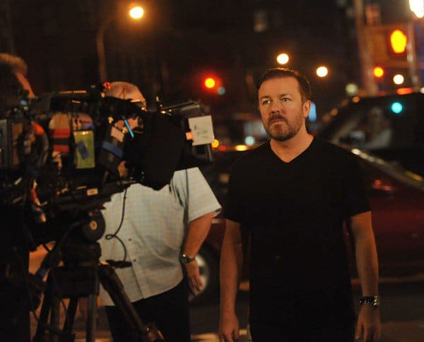 Ricky Gervais on Location for 'Curb Your Enthusiasm' in New York City