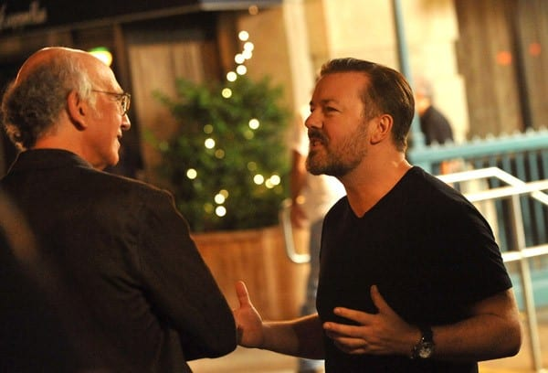 Larry David and Ricky Gervais on Location for 'Curb Your Enthusiasm' in New York City