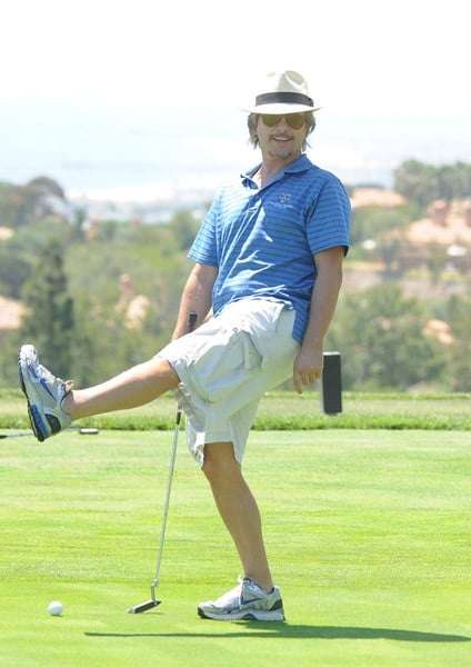 David Spade Plays Golf at Pelican Hill Resort in Newport Beach, CA