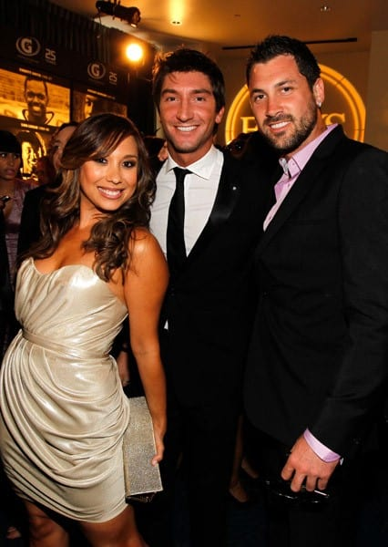 Cheryl Burke, Evan Lysacek & Maksim Chmerkovskiy at the 2010 ESPY Awards in Los Angeles