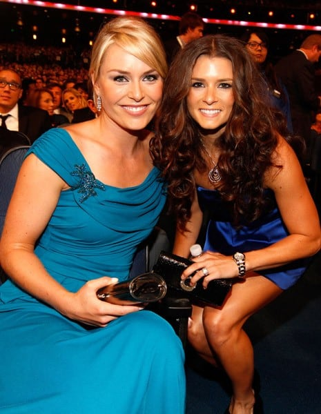 Lindsey Vonn and Danica Patrick at the 2010 ESPY Awards in Los Angeles