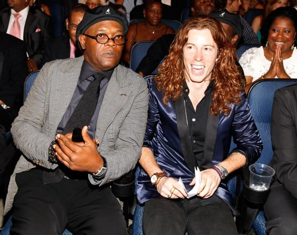 Samuel L. Jackson &  Shaun White at the 2010 ESPY Awards in Los Angeles
