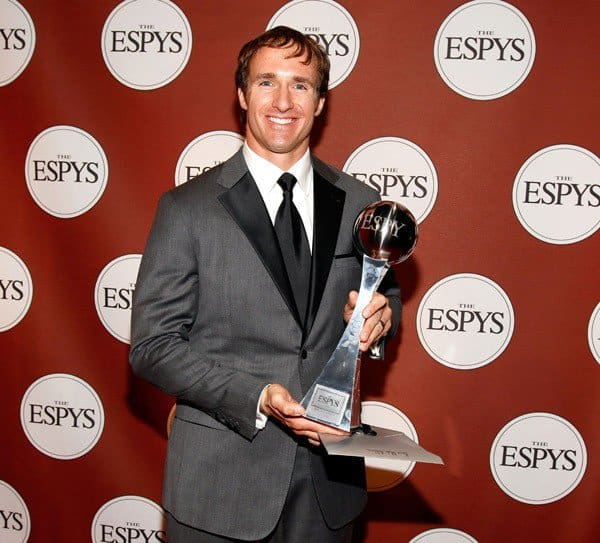 Drew Brees at the 2010 ESPY Awards in Los Angeles