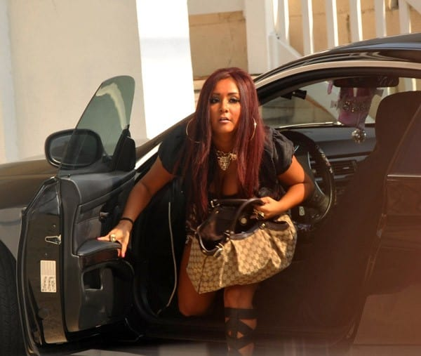"Nicole ""Snooki"" Polizzi on location for 'Jersey Shore' Season 3 in Seaside Heights, NJ on July 23, 2010"