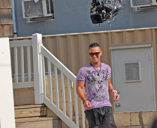 "Michael ""The Situation"" Sorrentino on location for ""Jersey Shore"" Season 3 on July 23, 2010 in Seaside Heights, New Jersey."