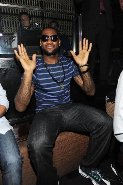 LeBron James Hosts at LAVO in Las Vegas, Nevada on July 23, 2010