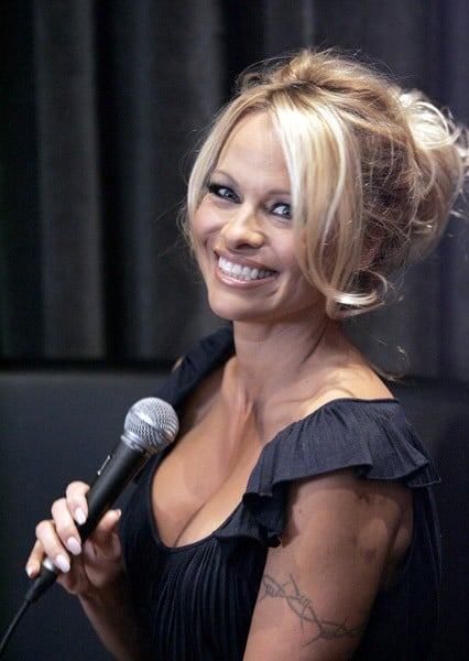 Pamela Anderson unveils her new Vegetarian PETA Campaign at Restaurant Globe on July 15, 2010 in Montreal, Canada.