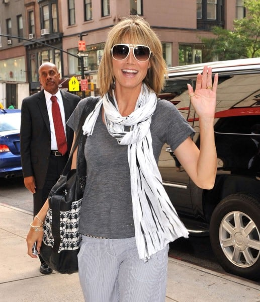 Heidi Klum Spotted As Project Runway Returns to New York City