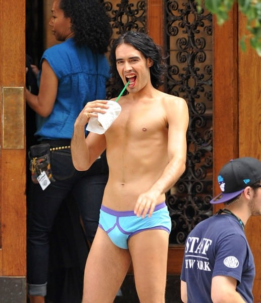Russell Brand filming on location for 'Arthur on the streets of Manhattan on July 28, 2010 in New York City.
