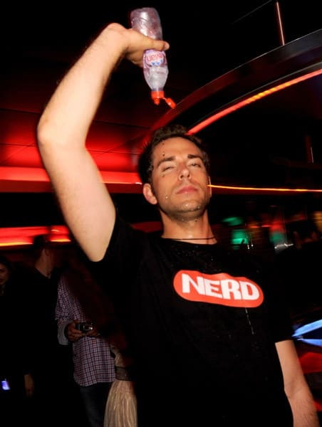 Zachary Levi (L) attends the Nerd Party hosted by Zachary Levi during Comic-Con 2010 at The Keating Hotel on July 24, 2010 in San Diego, California.