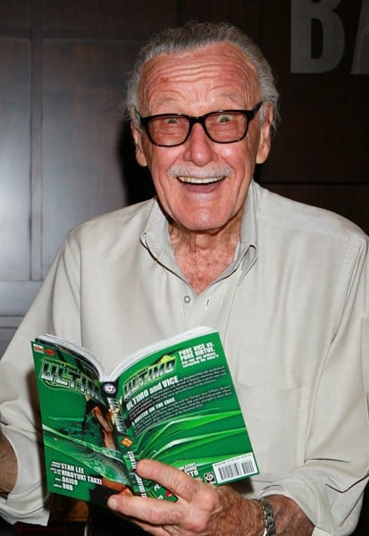 Writer Stan Lee attends a signing for