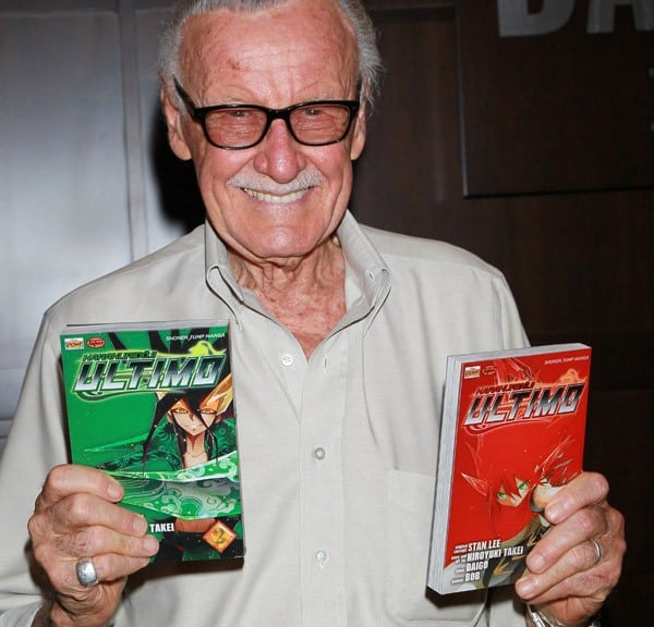 """Writer Stan Lee attends a signing for """"Karakuridoji Ultimo, Volume 1"""" and """"Karakuridoji Ultimo, Volume 2"""" at Barnes & Noble Booksellers at The Grove on July 16, 2010 in Los Angeles, California."""