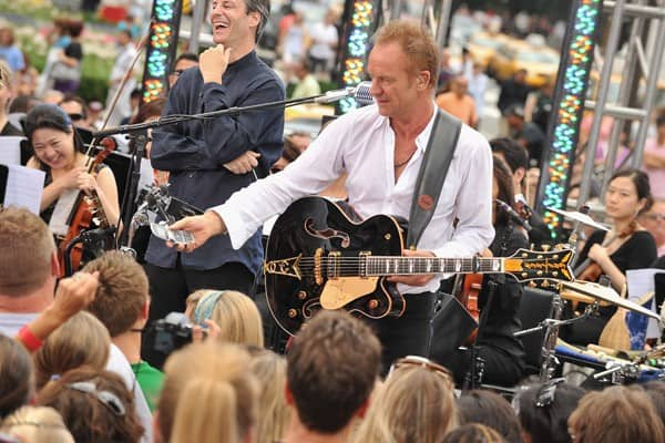 Sting Performs On CBS' 'The Early Show' in New York City
