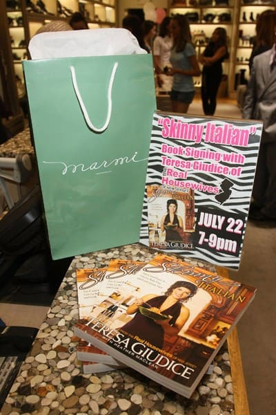 "Teresa Giudice attends Teresa Giudice's ""Skinny Italian"" book signing at Marmi on July 22, 2010 in New York City."