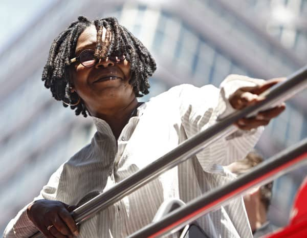 Actress Whoopi Goldberg is honored by Gray Line New York's Ride Of Fame Campaign on July 26, 2010 in New York City.