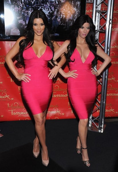 Kim Kardashian Unveils Her Wax Figure at Madame Tussauds