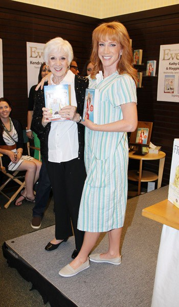 Maggie Griffin Signs Her Book, 'Tip It!' with Kathy Griffin