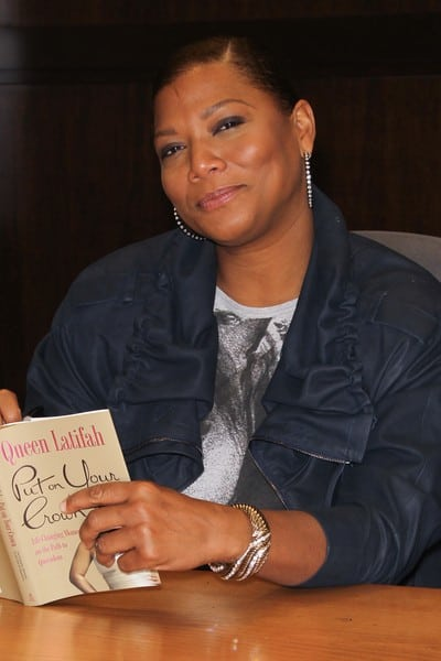 Queen Latifah Signs 'Put On Your Crown' at The Grove
