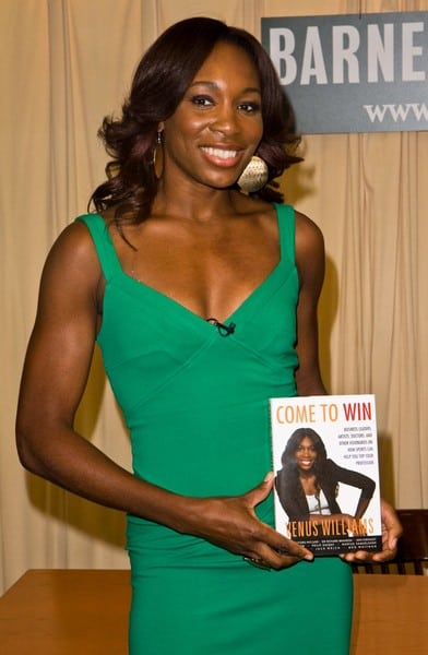 Venus Williams Signs Her Book 'Come to Win'