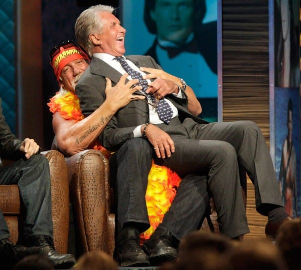 Hulk Hogan and George Hamilton arrive to Comedy Central's Roast of David Hasselhoff held at Sony Pictures Studios on August 1, 2010 in Culver City, California.